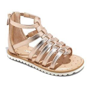 🎃 Cat & Jack Rose Gold Gladiator Sandals Size 8
